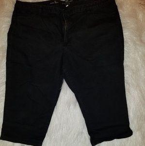 Lane Bryant Black Stretch Capri Jeans.  26 plus